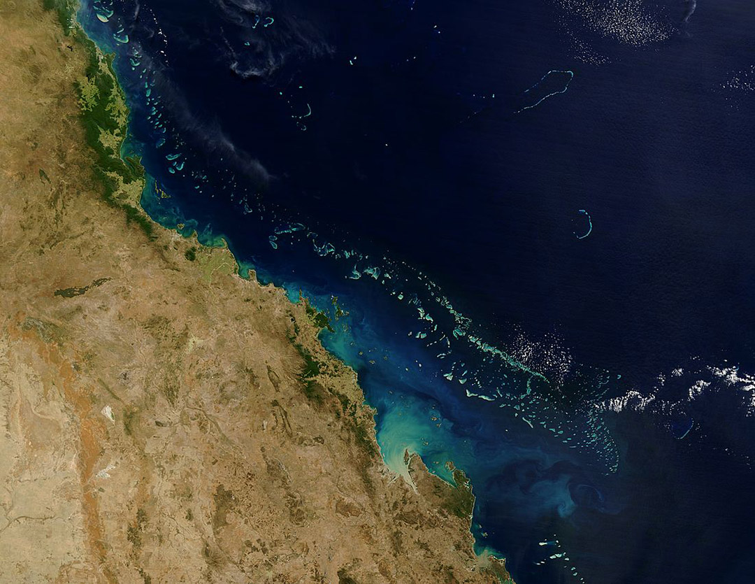 The Great Barrier Reef off Australia