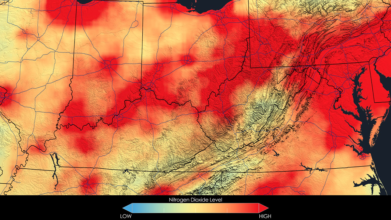 Image showing Air Quality in the Ohio Valley, 2005.