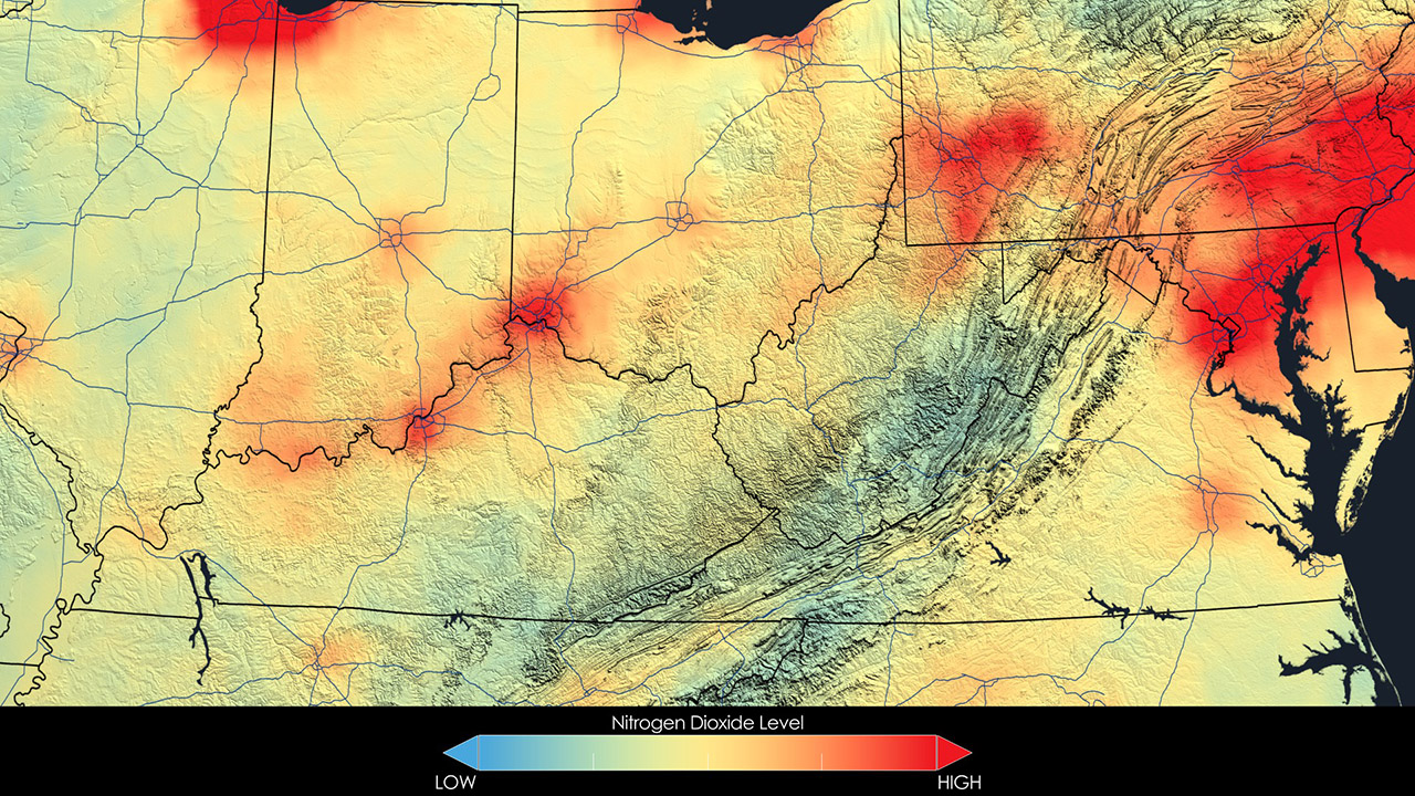 Image showing Air Quality in the Ohio Valley, 2011.