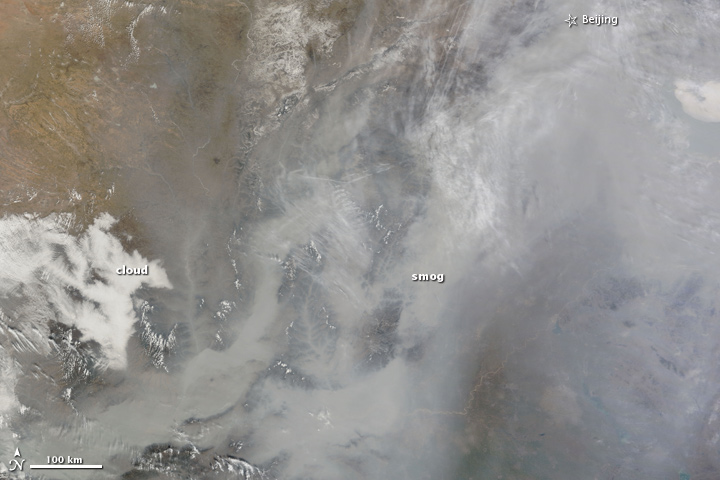 Pollution over China, 2011.