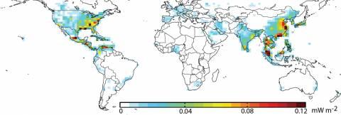 Air Pollution Map, 2013.